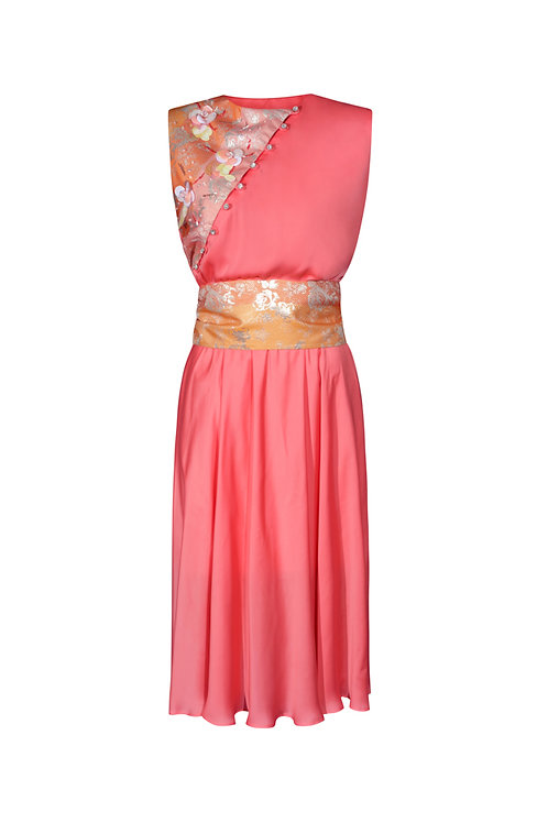 Dress Shiny Flowers Pink