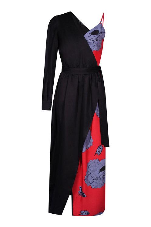 Dress Black Red