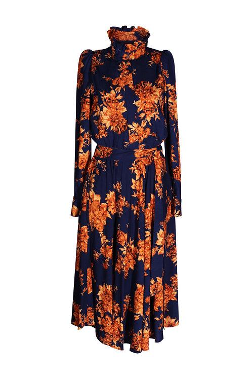 Dress Orange Flowers