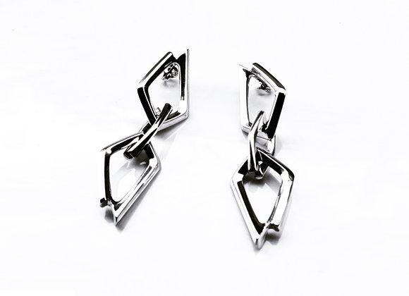 Pentagon Triple Earrings