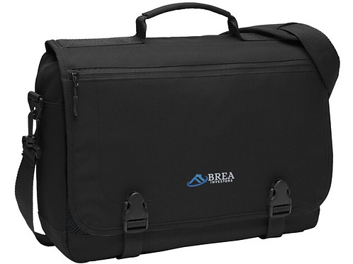 Port Authority Messenger Briefcase - Black