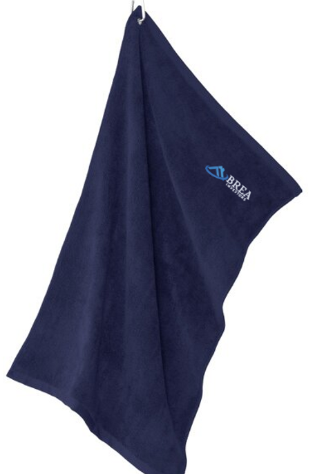 Port Authority Grommeted Microfiber Golf Towel - Navy