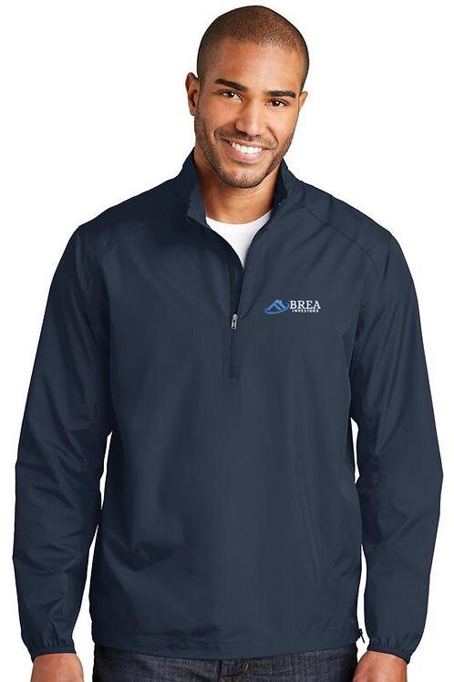 Men's port authority zephyr 1/2-zip pullover - Navy
