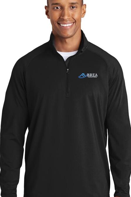 Sport-Tek Sport-Wick Stretch 1/2-Zip Pullover - Black