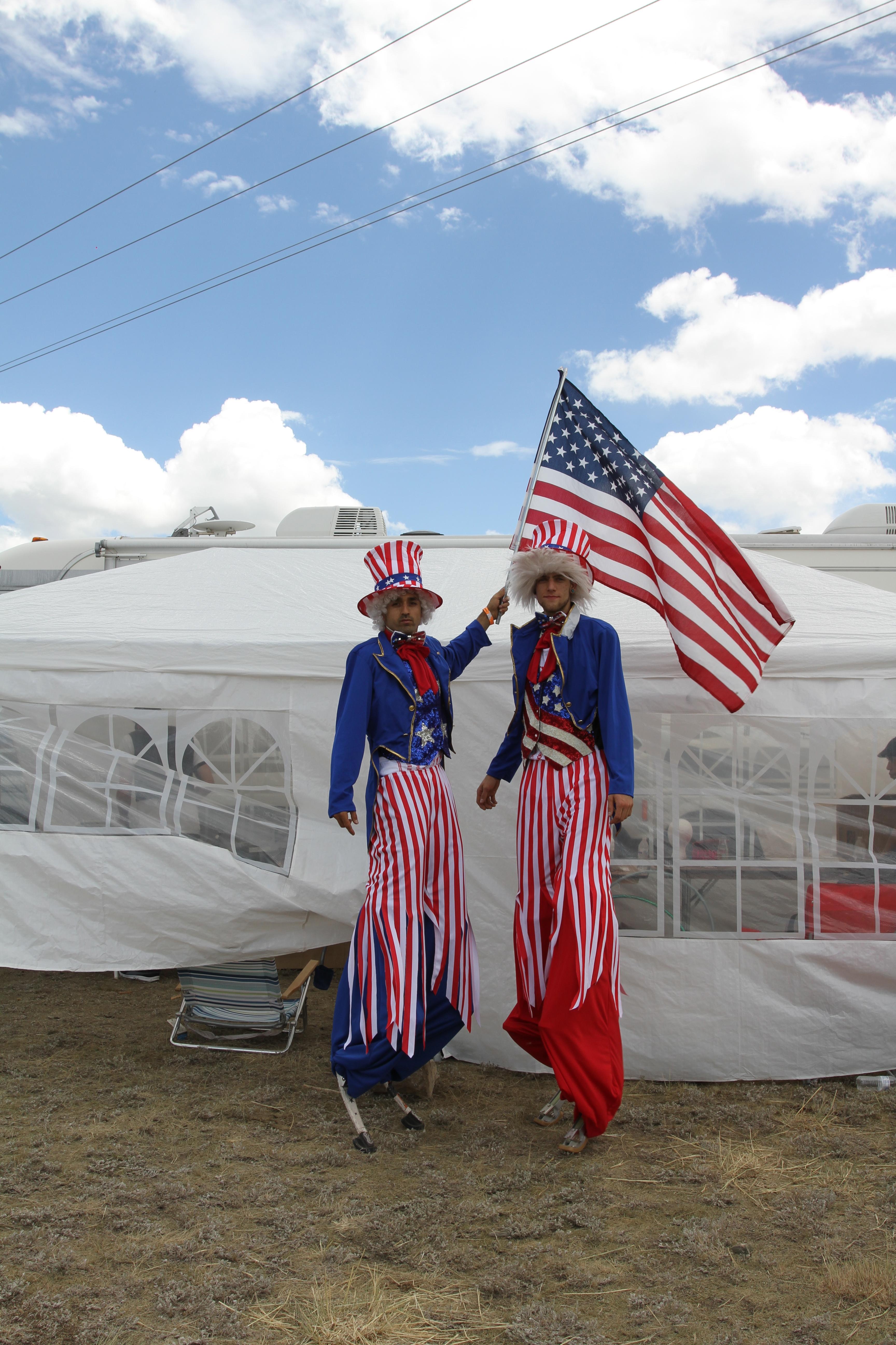 Uncle Sam Stilt Jumpers