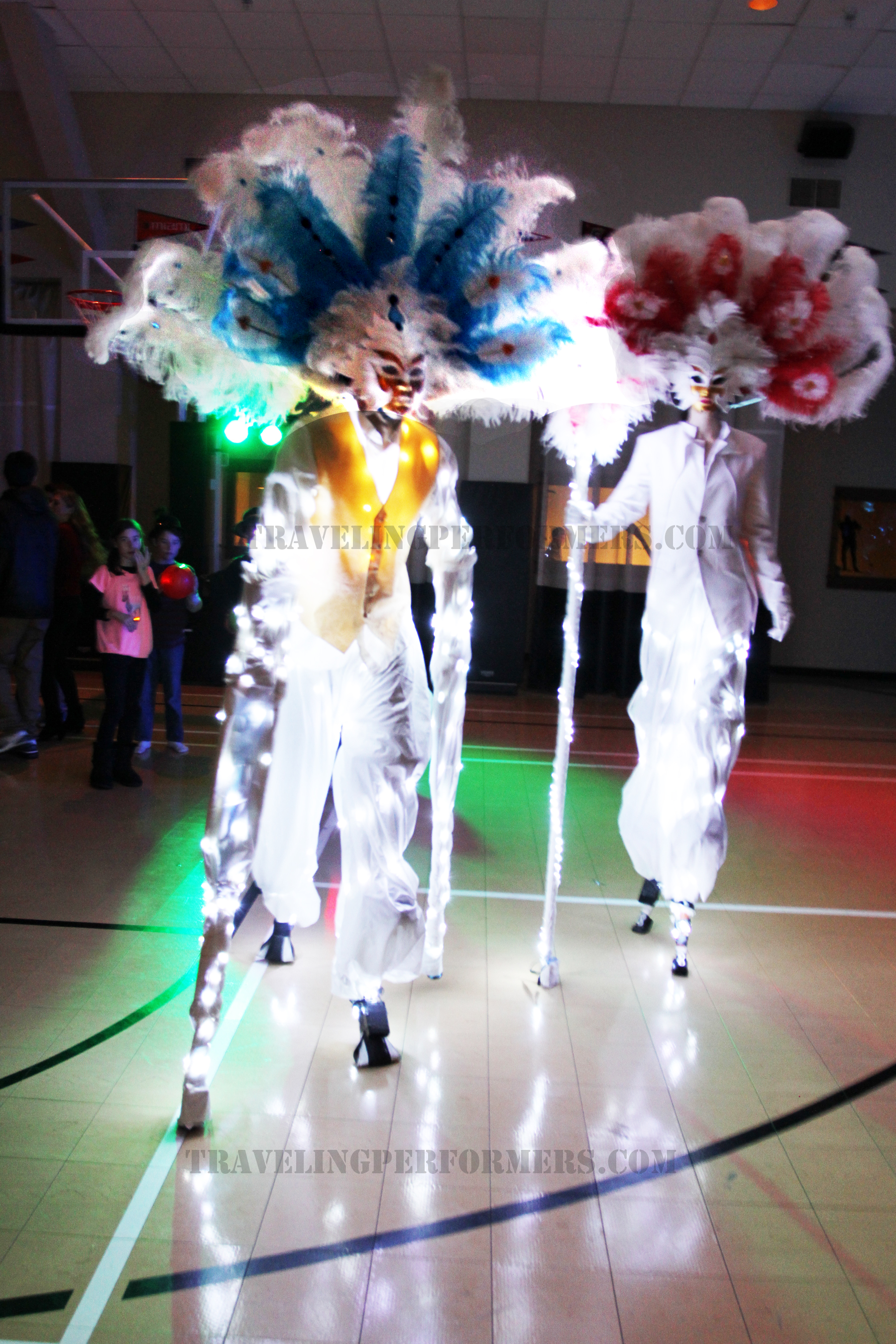 LED Feathered Stilt Characters