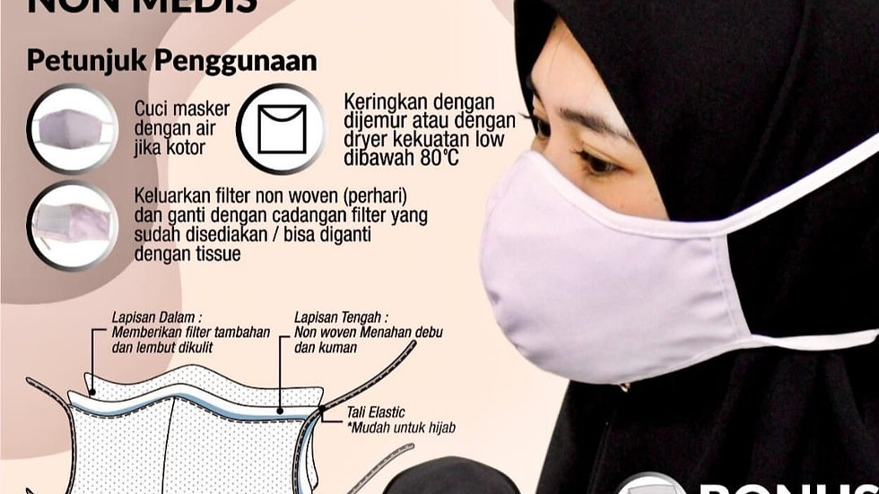 Masker Non Medis isi 100pc/pack, NON MEDICAL MASK 100pc/pack