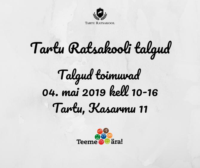 Tartu Ratsakooli talgud 2019