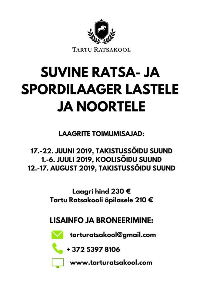 SUVINE RATSA- JA SPORDILAAGER LASTELE JA NOORTELE