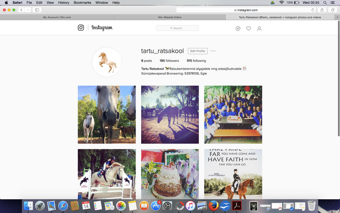 Jälgi meid nüüd ka Instagramis