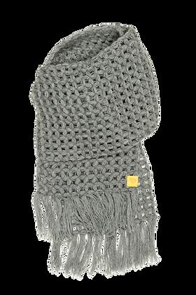 The Beatrice merino scarf - grey