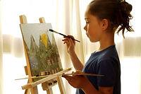 подростки рисуют