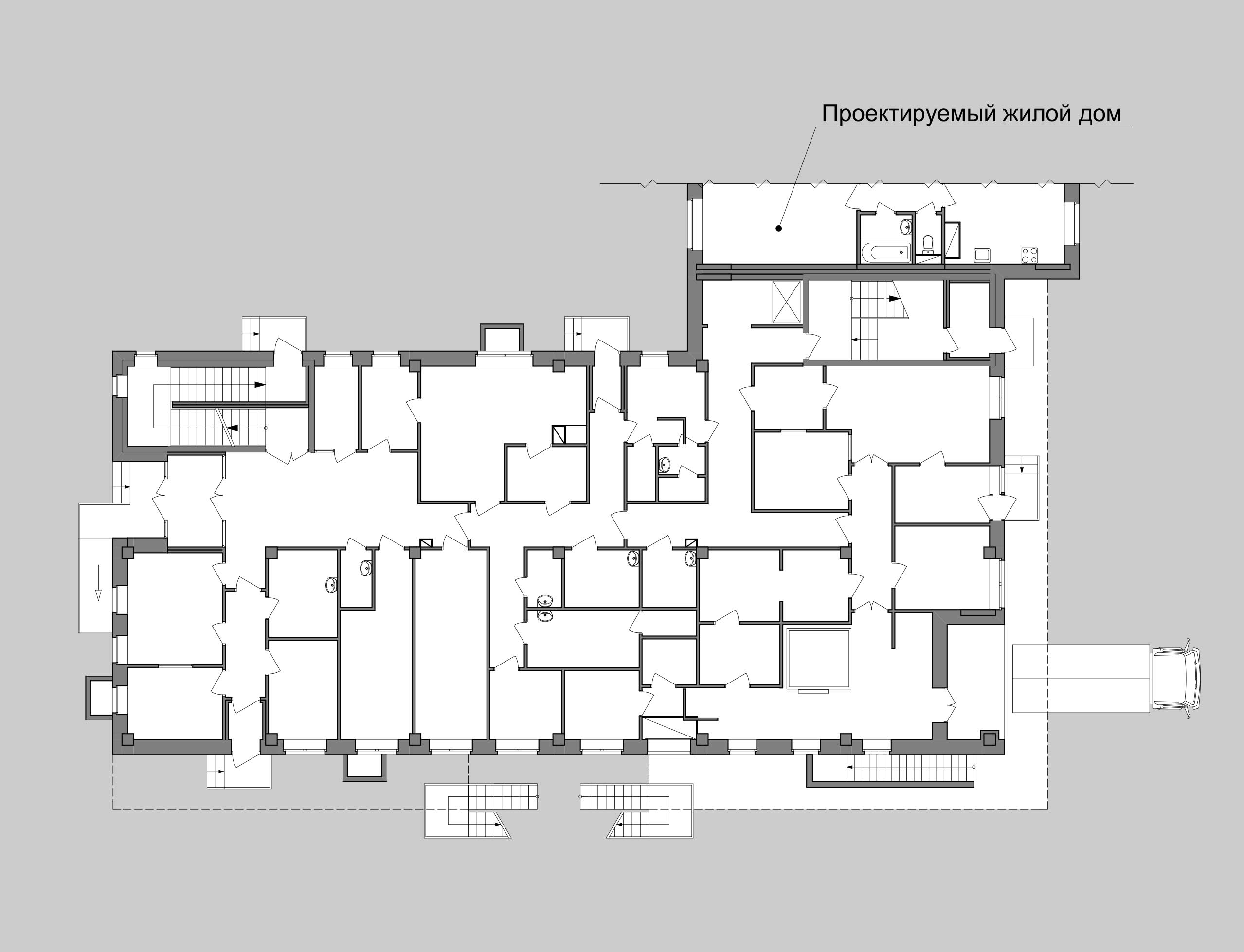 детский сад план 1 этажа