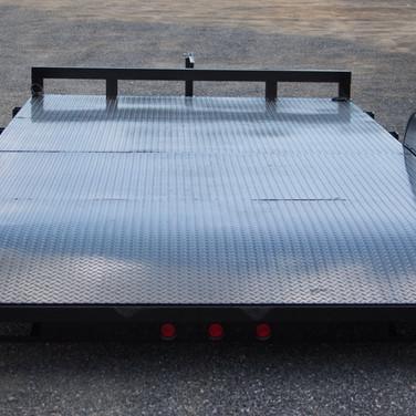 7,000 lbs. Steel-Deck Car Hauler, 2-Foot Beaver Tail