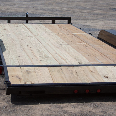 7,000 lbs. Wood-Deck Car Hauler with a 2-Foot Beaver Tail
