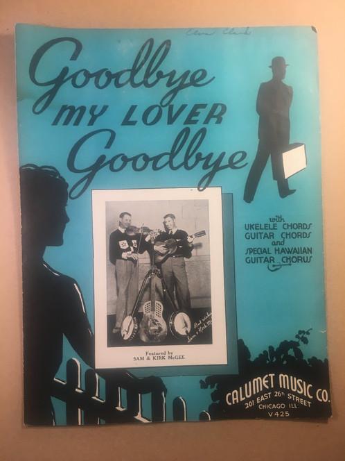Goodbye My Lover Goodbye Sam Kirk Mcgee Sheet Music 78 Rpm