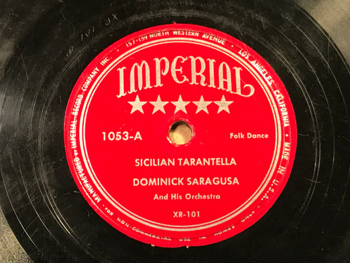 Dominick Saragusa And His Orchestra - Sicilian Tarantella - Imperial 1053
