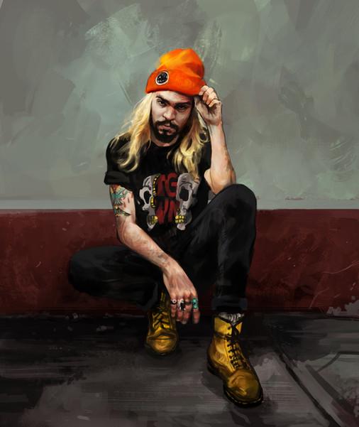 Caleb Davis paint study