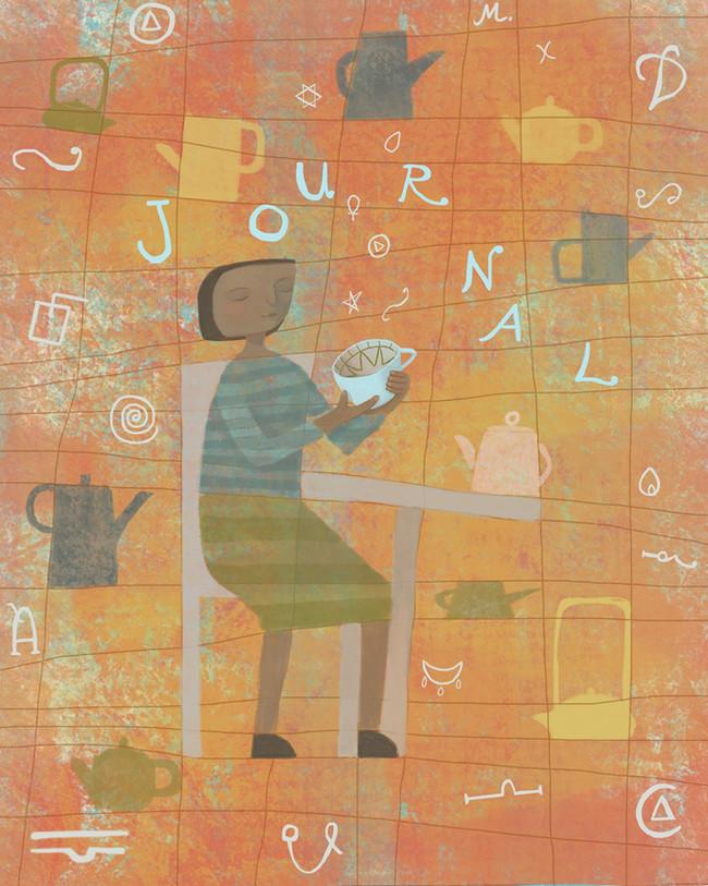 Journal Cover for a Tea Leaf Reader
