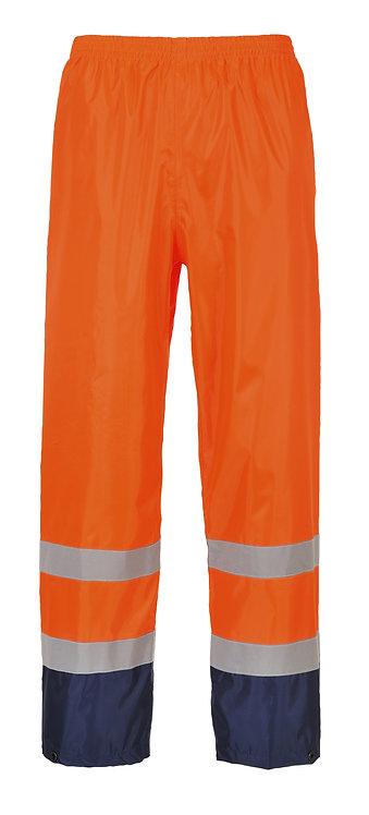 Warnschutz-Regenhose mit Kontrastfarbe