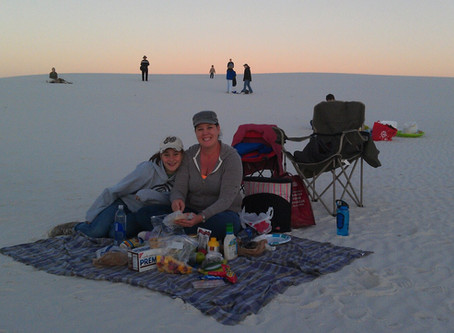 Full moon at White Sands National Monument