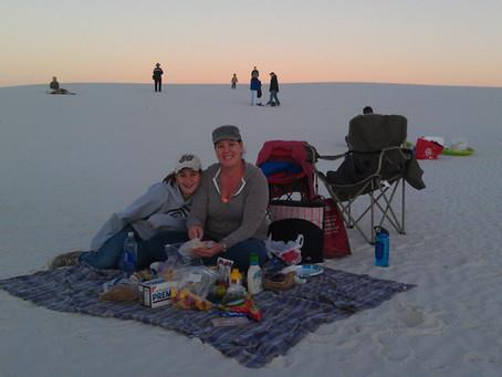 Full moon at White Sands National Monument
