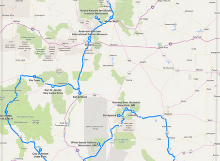 Road Trip for True Families (17 stops – 1022.4 miles)