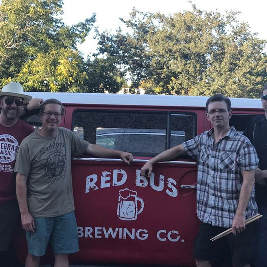 Hanging at Red Bus as our sometime alter ego, The Nothin' Brothers