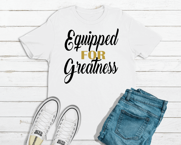 equipped for greatness unisex t-shirt