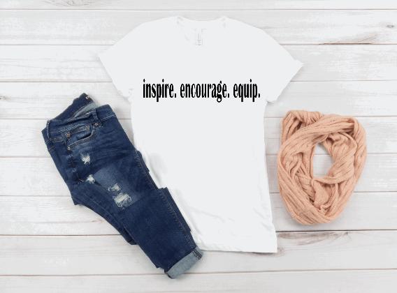 inspire.encourage.equip. unisex t-shirt