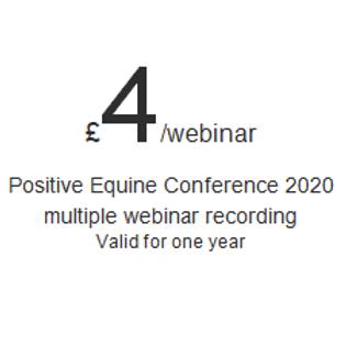 Positive Equine Conference multiple speaker subscription