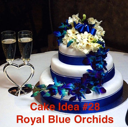 Cake Idea 28 Royal Blue Orchids Love Of A Lifetime L New York