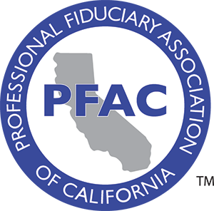 The logo for the Professional Fiduciary Association of California (also known as PFAC)