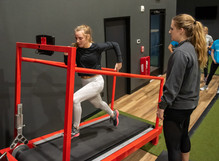 AI runner being assessed by Coach Natalie