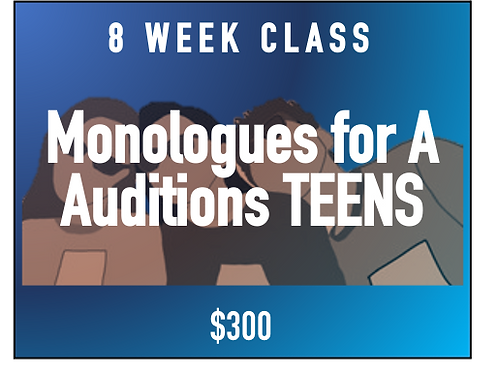 Monologues for Acting Auditions -Teens