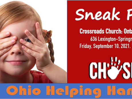 Ohio Helping Hands launches during a Sneak Peek event of the film CHOSEN!