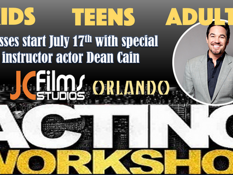 Orlando Studio to Host Actor Dean Cain for Acting Classes.