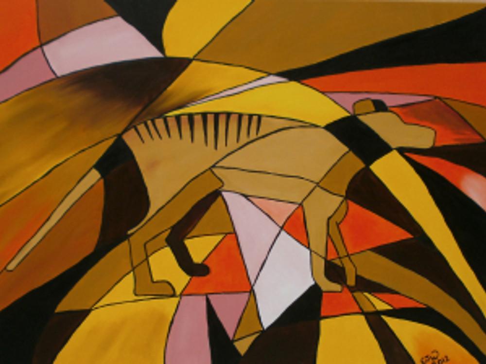 Thylacine Oil Painting Tasmanian Tiger Chloe Waterfield Art