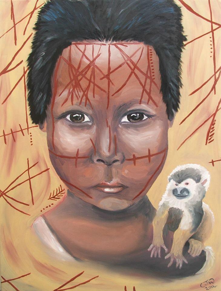 Nukak Portrait Painting Chloe Waterfield Art Paintings Malta