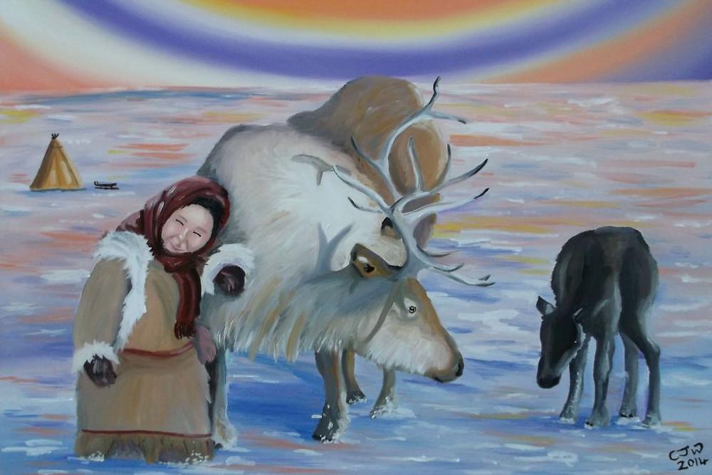 Maternal Planet Arctic Oil Painting Malta Artist Chloe Waterfield Ar