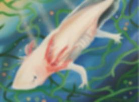 Axolotl Painting