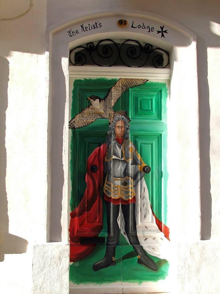 maltese-knight-door-painting-chloe-waterfield-art