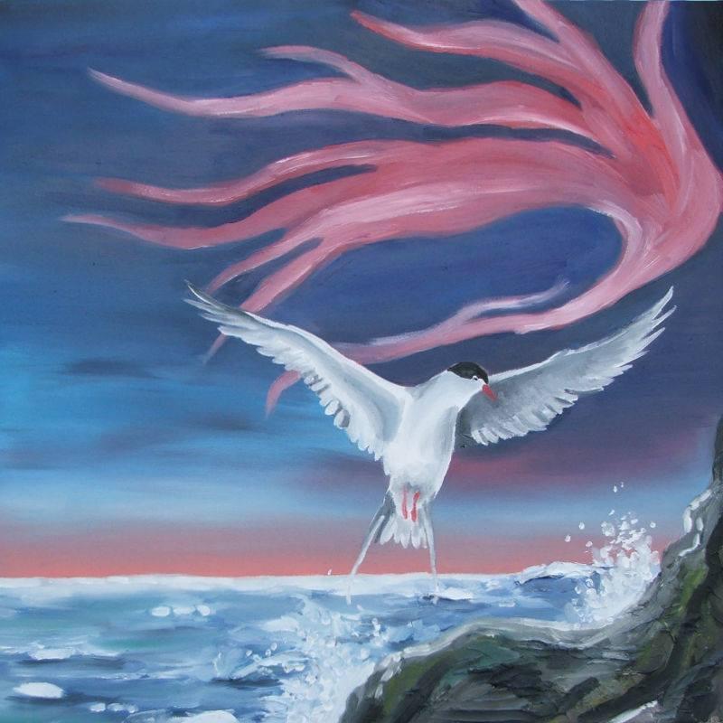 Bird Painting Arctic Malta Artist Chloe Waterfield Art