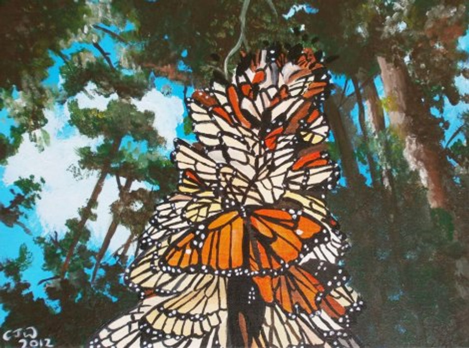 Monarch Butterflies Acrylic Painting