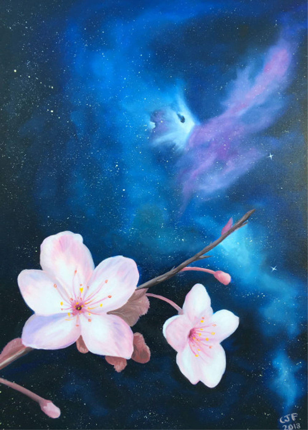 Cosmic Blooms Space Art Blog