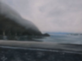 Lago Grey Misty Oil Painting