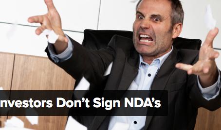 Why investors don't sign NDA's