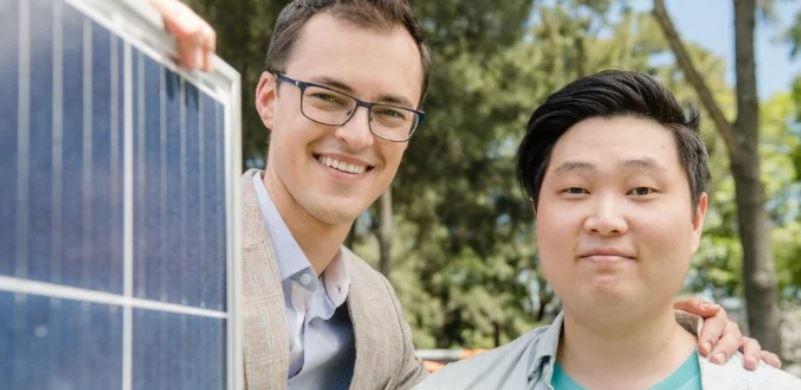ShineHub co-founders Alex Georgiou and Jin Kim