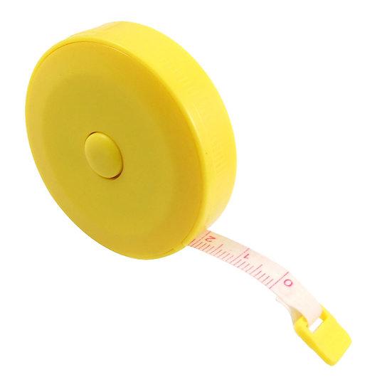 Ruban à mesurer rétractable 1,5 m - Jaune
