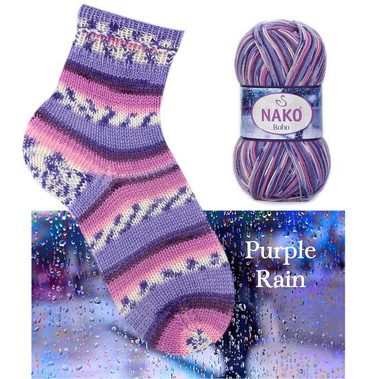 Laine à bas NAKO - Purple Rain